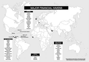 map financial havens